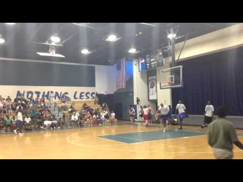 Dunking Basketballs at Wildwood Middle High School