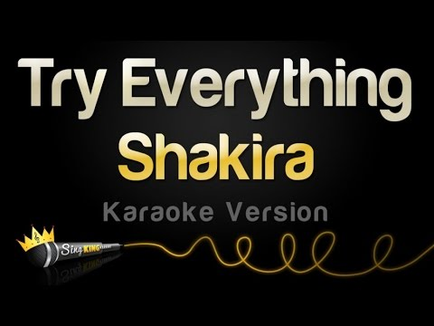 Shakira  Try Everything Karaoke Version