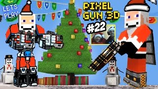 Mech Suit SANTA in Christmas Town! Dad & Son play Pixel Gun 3D EPIC UPDATE! (Part 22 Face Cam)