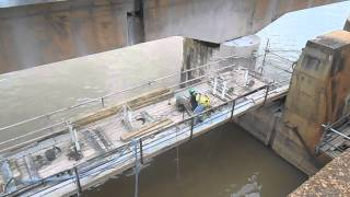 Counterweight removal by Wire Saw Spillway 24 Part 2
