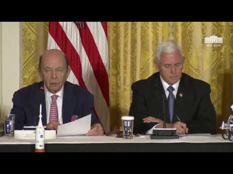 Vice President Pence Meets with the National Space Council