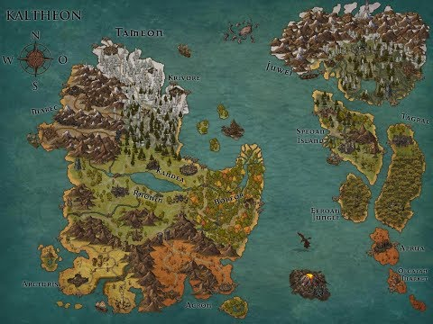 Creating a fantasy map with Inkarnate (Timelapse)