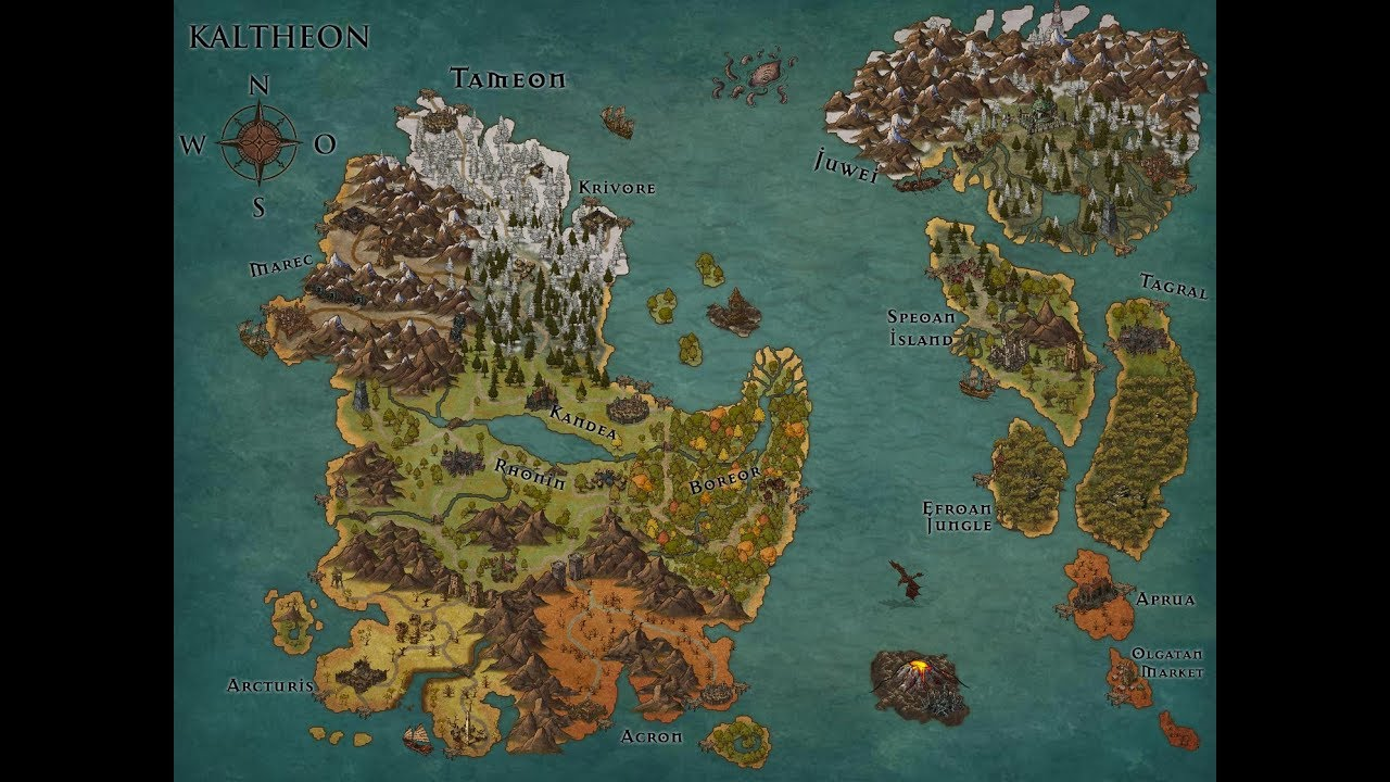 Creating A Fantasy Map With Inkarnate Timelapse Youtube