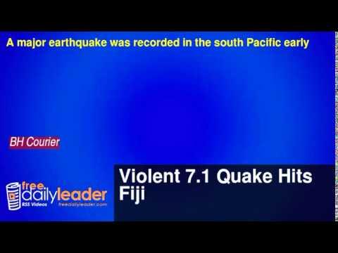 Violent 7.1 Quake Hits Fiji