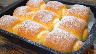 Булочки как пух! Мягкие японские булочки | Кулинарим с Таней