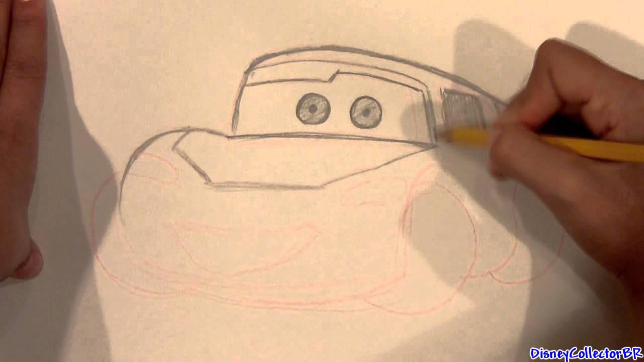Drawing Lightning Mcqueen Cars 2 Pixar Disney Draw Saetta Youtube