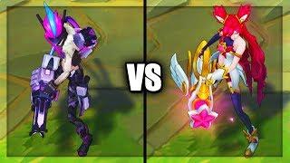 PROJECT: Jinx vs Star Guardian Jinx Legendary vs Epic Skins Comparison (League of Legends)