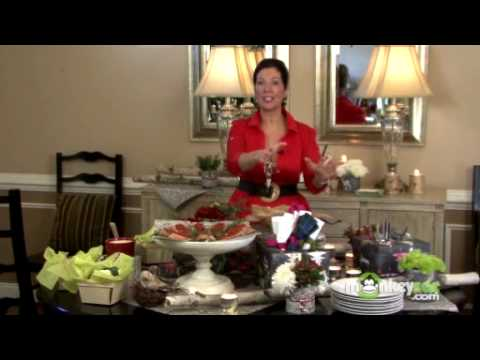 Holiday Party Planning - Setting a Buffet Table - YouTube