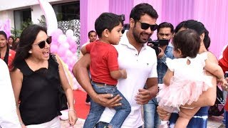 Kanchi Kaul And Shabbir Ahluwalia Attend Bella & Vienna's Birthday Party