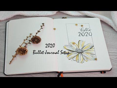 Bullet Journal Setup 2020 / Plan with me 2020 Bullet Journal 2020
