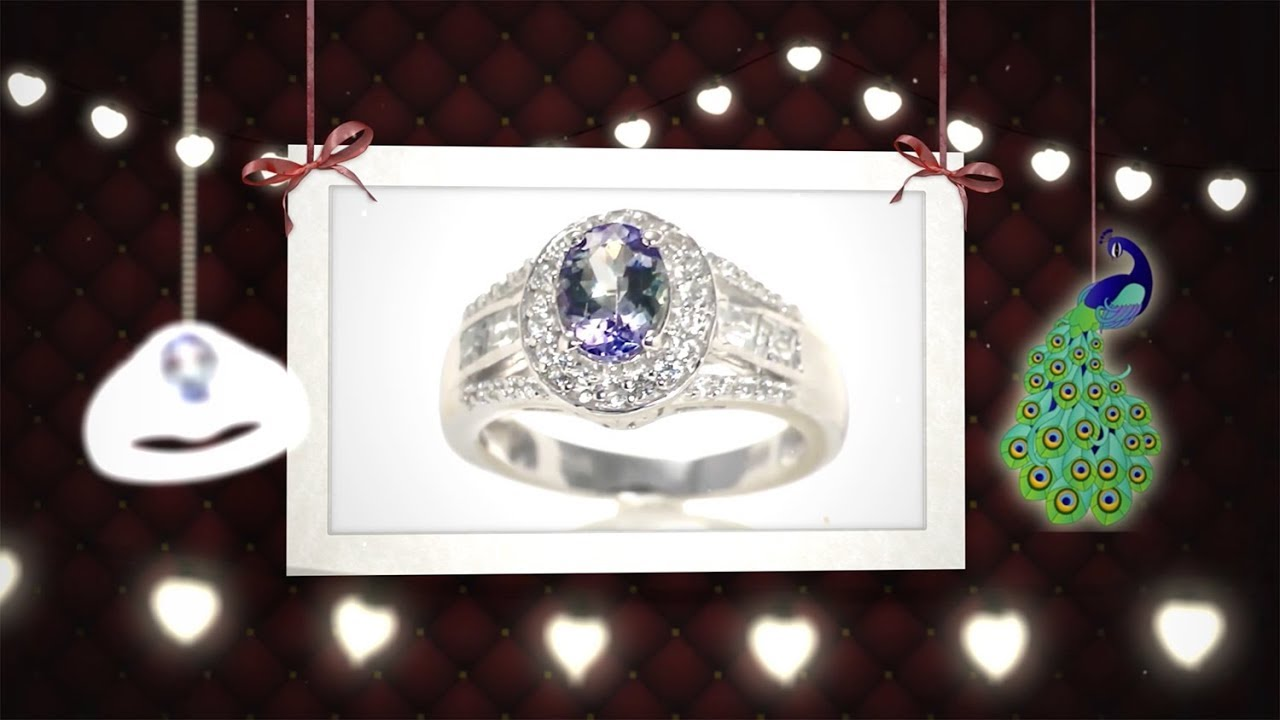 pin sterling yg russian ring platinum quartz tanzanite over peacock and silver diopside