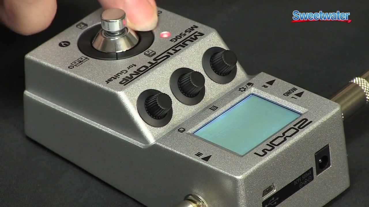 zoom ms 50g guitar multi fx pedal demo sweetwater sound youtube. Black Bedroom Furniture Sets. Home Design Ideas