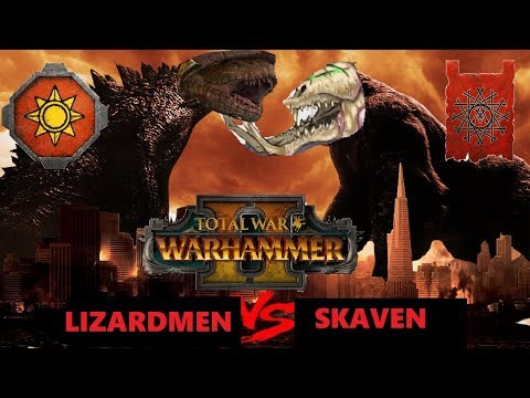 Skaven vs Lizardmen | LASERS AND RATS : Total War Warhammer 2