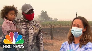 Oregon Family Tearfully Describes Watching House, Business Burn In Wildfire | NBC News NOW