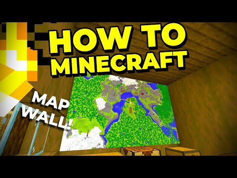 How to Build a MAP WALL in Minecraft! - How to Minecraft #25