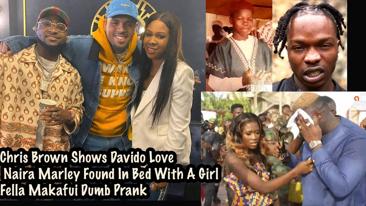 Chris Brown Shows Davido Love X Naira Marley Found In Bed With A Girl