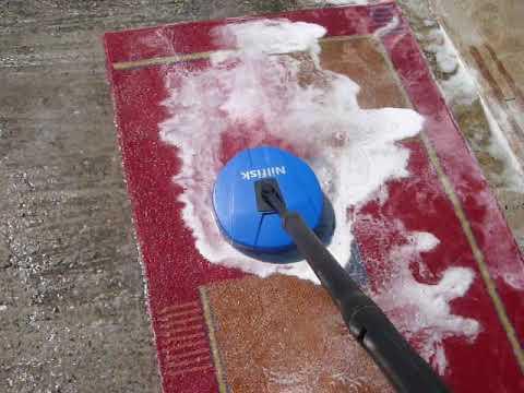 Πλύσιμο χαλιών με Nilfisk Patio Cleaner 128500700 ~ Wash carpets (Tested with 135 Bar)