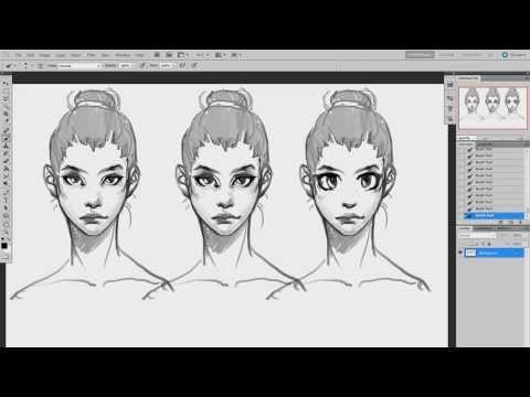 видео: Рисование персонажей (урок #1) | Как рисовать женский портрет