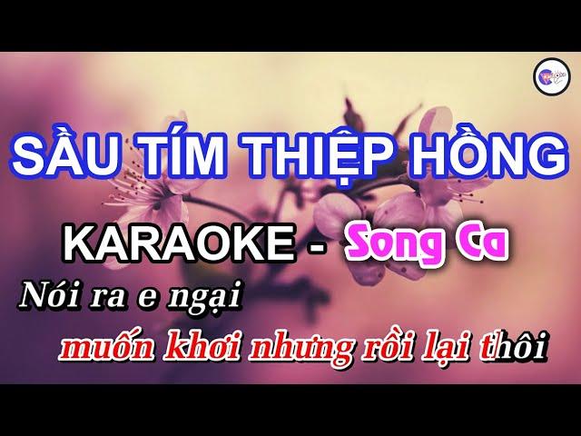 Sầu Tím Thiệp Hồng - KARAOKE [Song Ca] | Âm Thanh Hay