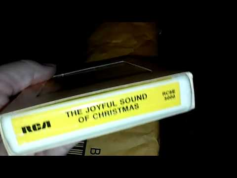 Unboxing 3 Vintage Christmas 8 Track tapes