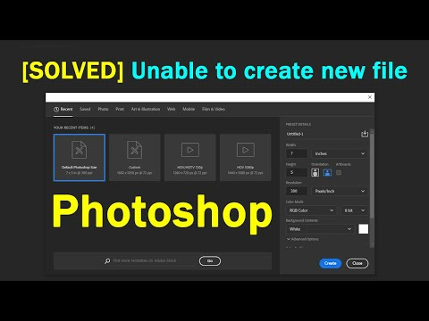 Solved: Can't Create/Open New File - Photoshop CC - Create New File Unclickable In Photoshop