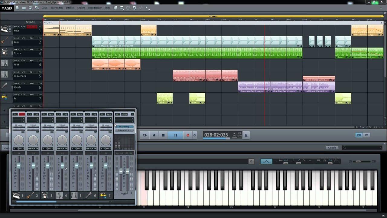 magix music maker 2015 premium - hiphop v16 promo - youtube