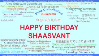Shaasvant   Languages Idiomas - Happy Birthday
