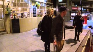 Dianna Agron And Stephen Wight Seen Leaving St James Theatre