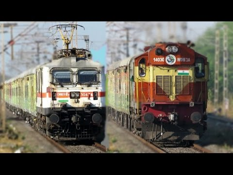 Electric & Diesel DURONTO EXPRESS   Speedy Action Back to Back !!
