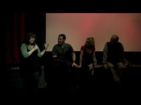 """The Last American Virgin""..ce Monoson interviewed by nervous hostess at New Bev Cinema!"