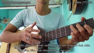 FULL Hướng dẫn GUITAR: EM GÁI MƯA (HƯƠNG TRÀM) - Intro + Hợp âm (NC) + Điệu (CB&NC)