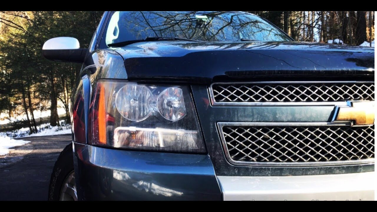 2007 2013 Chevy Avalanche Headlight Bulb Replacement Youtube