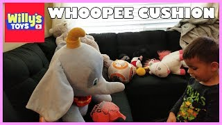 Whoopee Cushion Farting MADNESS - Learn Colors and Laugh! - Willy