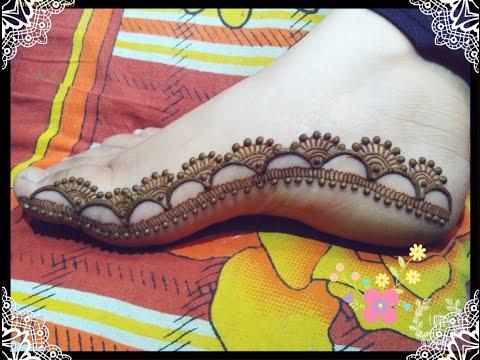 Eid special feet mehndi design tutorial.