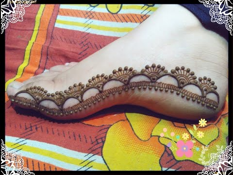 Mehndi Designs For Feet : Eid special feet mehndi design tutorial youtube