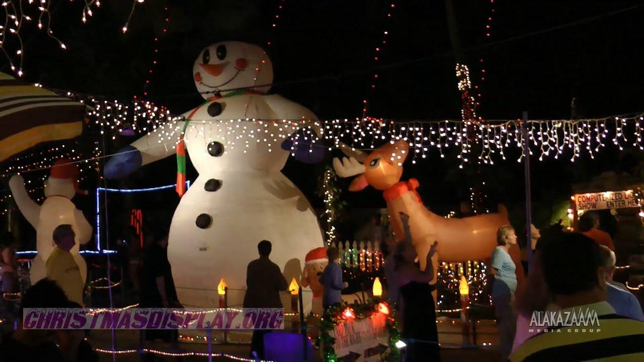 2015 Oakdale Christmas Lights Saint Petersburg, Florida - YouTube