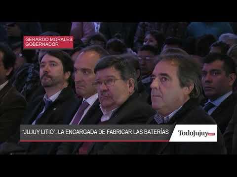 Jujuy Litio será la encargada de fabricar baterías en la provincia