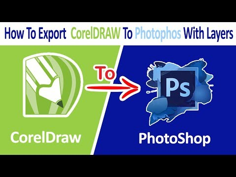 How To Export Coreldraw To Photoshop With Layers Ll CDR To PSD Conversion Ll Hindi / Urdu