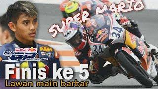 Mario Suryo Aji Finish Ke-5 Race 1 Red Bull Rookies Cup Valencia