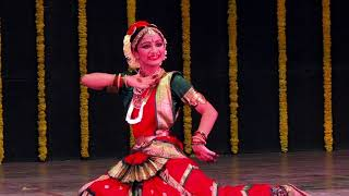 "Bharatanatyam Arangetram by SAKSHI MAHESHWARI. "" जल कमल छांड़ि जाने बाला "" ( पदम् )"