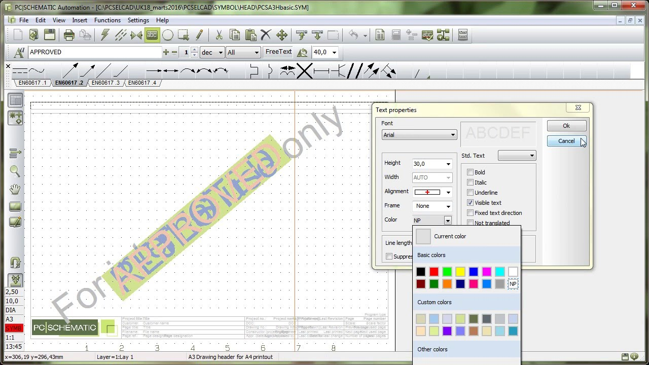 Create your own symbol: Make your own drawing header (8/10) - YouTube