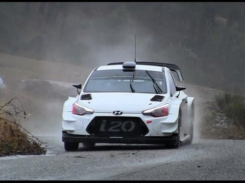 Test Thierry Neuville Hyundai i20 WRC MC 2017 Checkpoint Rallye