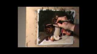 painting still life in oil