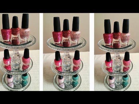 DIY| DOLLAR TREE THREE TIER NAIL POLISH ORGANIZER