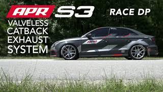 APR Valveless S3 Catback Exhaust System with APR Race DP
