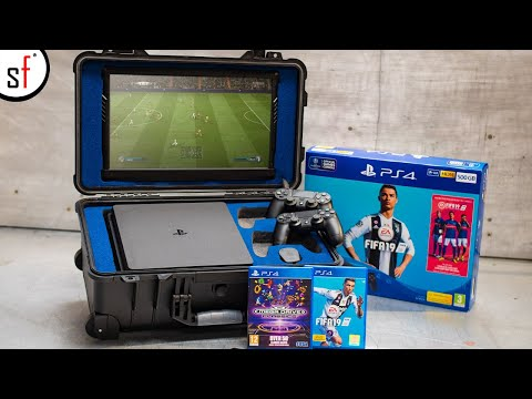 We Made A PORTABLE PS4 - Play FIFA Anywhere!