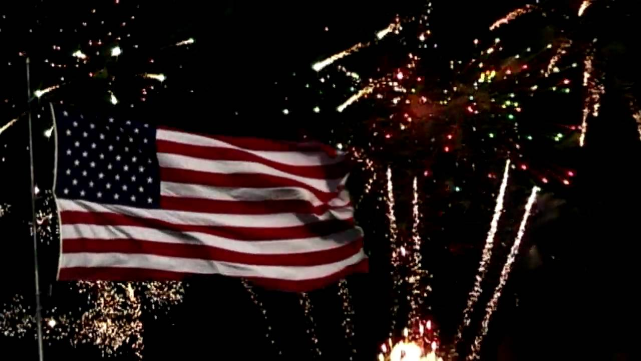 fireworks and us flag youtube