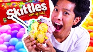 SKITTLES ICE CREAM!!!! RAINBOWS!!!