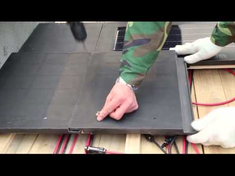 Solar Flat Roof Top Tile Installation (Full versions)