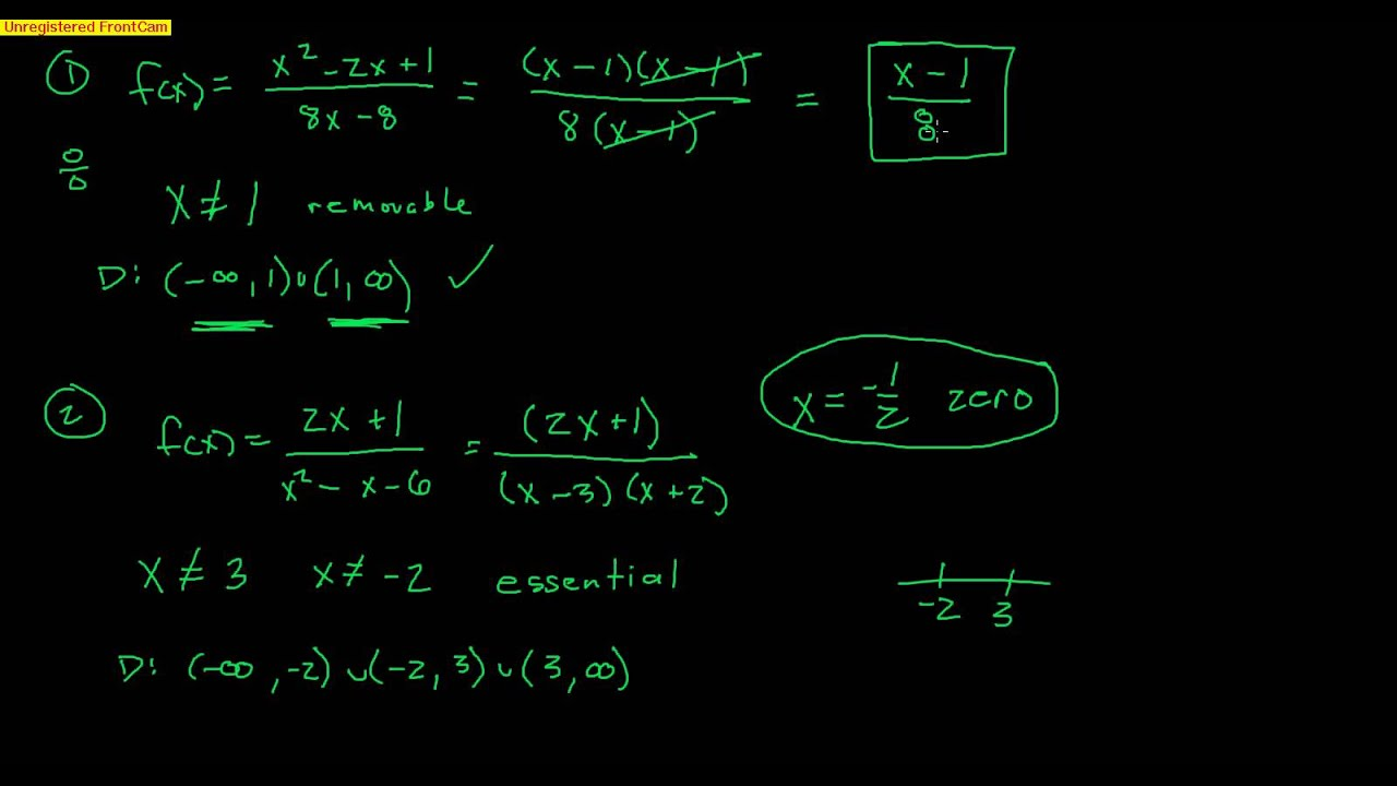 Pre-Calculus: Section 2 6 - Rational Functions - Part 1